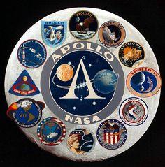 Patches der Apollo-Missionen