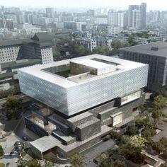 Ole Scheeren combines an auction house  and museum beside Beijing's Forbidden City