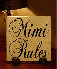 Mimi Rules Decorative Tile. $24.95, via Etsy.