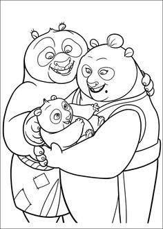 Guarda tutti i disegni da colorare di Kung Fu Panda www.bambinievacan...