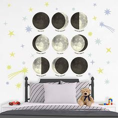 Moon Phases Fathead Wall Decal