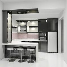 Modern Kitchen Design – Want to refurbish or redo your kitchen? As part of a modern kitchen renovation or remodeling, know that there are a . Modern Kitchen Cabinets, Modern Kitchen Design, Interior Design Kitchen, Modern Design, Modern Interior, Kitchen Wood, Kitchen Small, Kitchen Ideas, Kitchen Decor