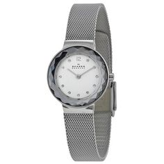 The Skagen, Anita series features a stainless steel case, with a fixed stainless steel bezel, a silver dial and a scratch resistant mineral crystal. The stainless steel mesh band is fitted with a fold over clasp. Skagen Watches, Women's Watches, Shops, Mesh Band, Online Watch Store, Mesh Bracelet, Stainless Steel Mesh, Top 5, Watch Sale