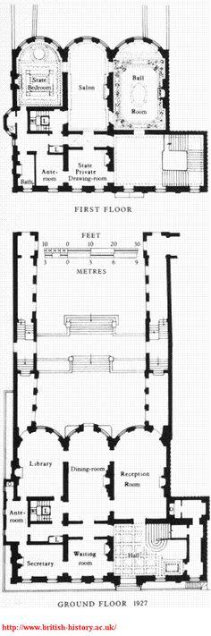 No. 75 South Audley Street, plans in 1927   image.aspx 384×1,157 pixels
