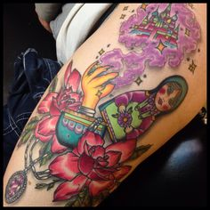 Ben Gun flower girl tattoo