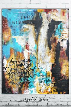 """Writings on the Wall"" Mixed Media Abstract Painting by Crystal Renee Fine Art"