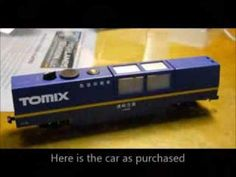 TCS Z2 decoder into an N Scale Tomix Track Cleaner.  Fifer Hobby Supply