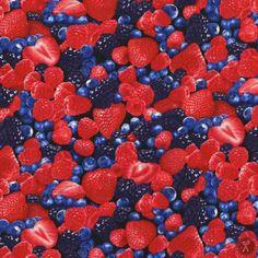 Farm Fresh Mixed Berries Fabric / Blueberries Strawberries  / C1811  fabric Timeless Treasures  / Fat Quarter / 1 Yard Cut  / 1/2 Yard Cuts by SewWhatQuiltShop on Etsy