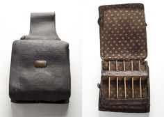 Medical Saddlebags, c. 1857. These saddlebags belonged to Dr. Peter Stokes (1822-1904), a graduate of the Medical College of South Carolina in 1846. In 1860 Stokes served as a delegate in the Secession Convention in 1860, was a signer of the Ordinance of Secession on December 20, and served the Confederate Army as a surgeon from 1861 to1862. From the collections of the Charleston Museum.