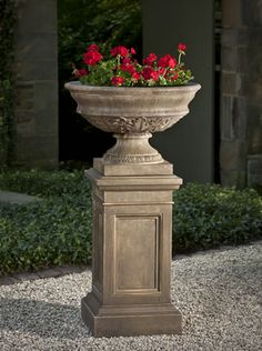 Coachhouse Pedestal cast stone pedestal made by Campania International