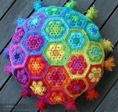 almohadon flor africana