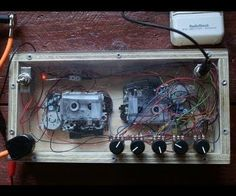 For quite some time, I've been fascinated about Tape Delays and decided my grand future setup would have to include a DIY Lo-F. Diy Electronics, Electronics Projects, Voodoo, Diy Guitar Pedal, Tape Echo, Guitar Effects Pedals, Guitar Pedals, Homemade Instruments, Experimental Music