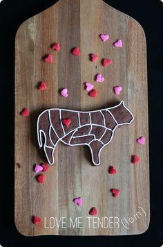 love me tender(loin) decorated cookies