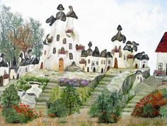 Fairy Chimneys in Cappadocia Cappadocia, Fairy, Houses, Paintings, Homes, Paint, Painting Art, Draw, Painting