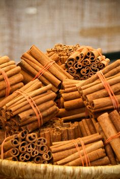 Stick cinnamon at the market. Photo by Vvillamon, via Flickr