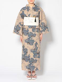 ワンカラー Japanese Outfits, Japanese Fashion, Japanese Clothing, Summer Kimono, Yukata, Japanese Kimono, Ao Dai, Traditional Outfits, Kimono Top