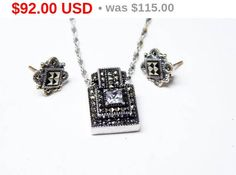 New Listings Daily - Follow Us for UpDates -  Spring Fling Sale Description or Style:   Sterling Silver Pendant & Earrings Set - Signed Judith Jack - Marcasite Rhinestones - Pierced Earrings - Sterling Chain Necklace -... #vintage #jewelry #teamlove #etsyretwt #ecochic #thejewelseeker ➡️ http://etsy.me/2t1eEhc