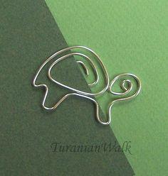 Schildkröte Draht-Lesezeichen von TuranianWalk auf Etsy