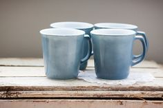 Hey, I found this really awesome Etsy listing at https://www.etsy.com/listing/178024537/set-of-4-pyrex-mugs-denim-blue Are you a coffee or tea addict? There's nothing like enjoying your favorite hot drink out of an adorable mug. You can purchase these items on Etsy today!