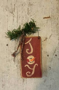 Primitive Snowman, Snowman, Joy Sign, Joy, Sign, Painted Snowman, Country Snowman, Snowman Sign,  Winter, Hand Painted, Wood, Barn Board by FlatHillGoods on Etsy