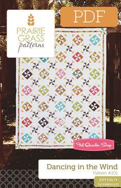 Dancing in the Wind Downloadable PDF Quilt Pattern Prairie Grass Patterns - Fat Quarter Shop
