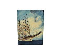 Ručne maľovaná peňaženka 8560 s motívom Pirátskej lode | Luxusné a módne šperky, doplnky, ozdoby, darčeky Lode, Painting, Painting Art, Paintings, Painted Canvas, Drawings