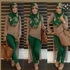 Pin by Erika Sándor on favorite muslim fashion Hijab Fashion 2016, Abaya Fashion, Modest Fashion, Fashion Outfits, Fashion Muslimah, Islamic Fashion, Muslim Fashion, Hijab Dress, Hijab Outfit