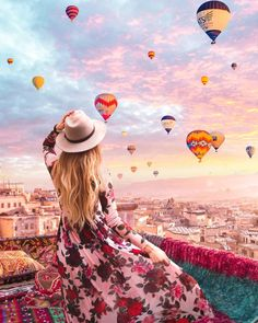 Dreamlike Photo Manipulations by Diego Hernandez Girl Photography Poses, Travel Photography, Life Is Beautiful, Beautiful Places, Stage Yoga, Fotos Goals, Cappadocia, Jolie Photo, Photo Instagram