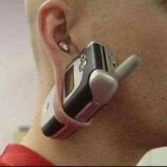 Actually,this was the reason primitive tribes stretched their earlobes. Yeah, that's right for cell phones. ;)