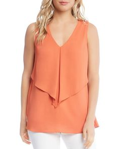 Karen Kane Sleeveless Overlay Top