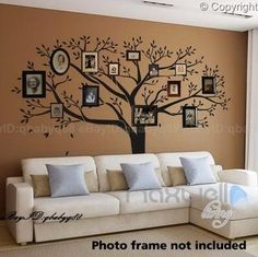 Giant Family Photo Tree Wall Decor Wall Sticker Vinyl Art Home Decals Room Decor Mural Branch Wall Decal Stickers Living Room Bed Baby Room Family Tree Wall Sticker, Wall Decal Sticker, Wall Stickers, Family Tree Mural, Family Wall Art, Family Trees, Family Room, Tree Wall Decor, Tree Wall Art