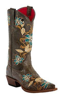 Anderson Bean® Macie Bean™ Ladies Black Vegas Bound Glitterrific Flashy Embroidered Snip Toe Western Boots | Cavender's Boot City