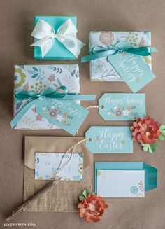 Printable Gift Wrap and Tags for Spring & Easter - Lia Griffith