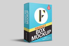 Product Packaging Box PSD Mockup