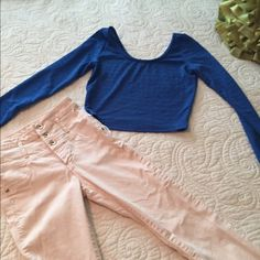 Royal Blue Crop Top Cute Pre Owned Blue Crop Top. size JR. small. Material Girl Material Girl Tops Crop Tops