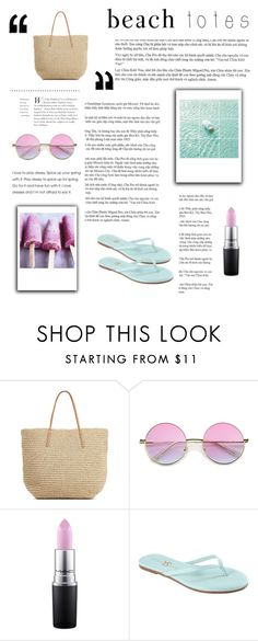 """""""Sans titre #48"""" by estelle007 ❤ liked on Polyvore featuring Target, MAC Cosmetics, Yosi Samra and beachtotes"""