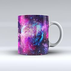 The Bright Trippy Space ink-Fuzed Ceramic Coffee Mug from DesignSkinz
