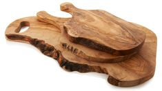 Imported Italian Olive Wood Cutting Boards.