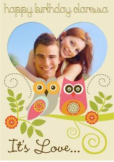 Hoot Hoot, Whooo doesn't love an owl in love? Owl Nursery, Card Making, Messages, Feelings, Love, Retro, Happy, How To Make, Cards