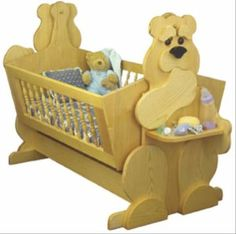 19-w3302 - Bear Cub Cradle Woodworking Plan. - Woodworkersworkshop® Online Store