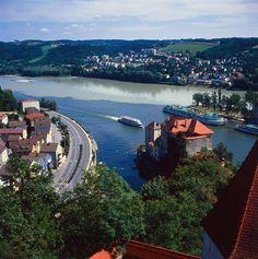 Germany - Passau: city at the confluence of three rivers (Danube, Inn, Ilz)    Author/Owner: Passau Tourismus e.V.