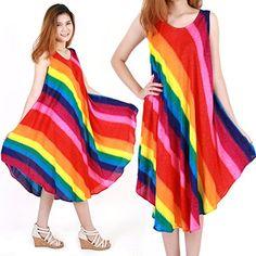 Rainbow Bohemian Casual Beach Sundress Size XS-XXL up to 2X bw161 sunbeachdressshop http://www.amazon.com/gp/product/B00VSQRQ66?creativeASIN=B00VSQRQ66&linkCode=w00&linkId=OAIISZCZTMNC4W5Q&ref_=as_sl_pc_qf_sp_asin_til&tag=deluxecom-20