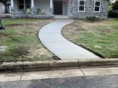 GroundScape, a Fort Worth Landscape Company, installs curved concrete pathway. Landscaping Company, Front Yard Landscaping, Sprinkler System Repair, Concrete Pathway, Flower Bed Edging, Drainage Solutions, Landscape Services, Sidewalks, Outdoor Living Areas