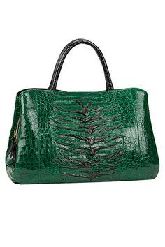 The Extras: Going Green: Nancy Gonzalez bag, $3,950, Bergdorf Goodman; 888-774-2424.