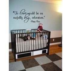 Amazon.com: To love would be an awfully big adventure. Peter Pan quote 32x12 wall sayings...: Home & Kitchen