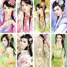 """Art from """"Flower and the Beauty"""" Game http://www.caihongtang.com/kind2/game9713.htm"""