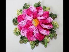 Flor Begônia Crochê | Passo a Passo | Luana Jaworski - YouTube