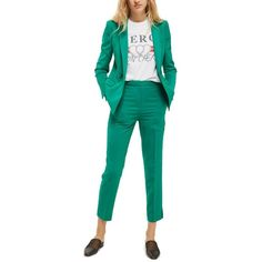Women's Topshop Tailored Cigarette Trousers (265 RON) ❤ liked on Polyvore featuring pants, jade, petite, petite stretch pants, tapered trousers, petite pants, slim fitted pants and slim fit tapered pants