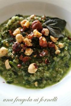 Risotto agli spinaci, nocciole e salvia | Risotto with Spinach, Hazelnuts and Sage