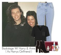 """""""Harry & Anne"""" by idaln ❤ liked on Polyvore featuring Topshop, Yves Saint Laurent, Gianvito Rossi, Maybelline, Marc by Marc Jacobs, OneDirection and onedirectionoutfits"""